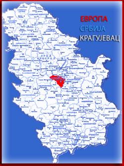 kragujevac mapa srbije karta srbije | Социјалистичка партија Србије Крагујевац kragujevac mapa srbije