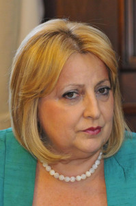 COE visit to Serbia. Meeting with Ms Slavica Djukic Dejanovic, Speaker of Serbian Parliament (pictured) photo: Salinger Igor / Aermedia.com
